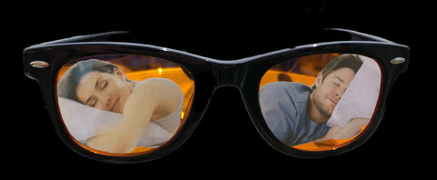 Blue Light Blocking Glasses-Sublime Blue Blockers-Wayfarer-Sleeping Couple