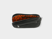 Load image into Gallery viewer, Pochette de voyage with orange wax lining