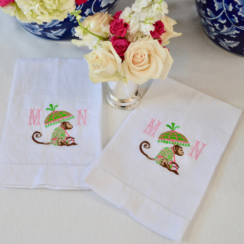LINEN HEMSTITCH TEA/GUEST TOWEL (set of 2)