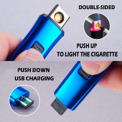 Rechargeable Double Side Windproof Electronic Lighters - Smartoys