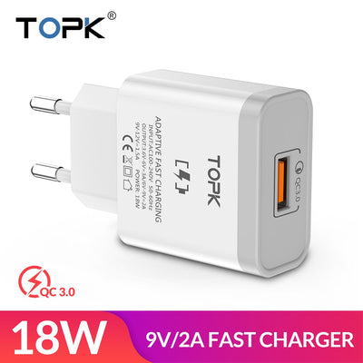 18W Quick Charge 3.0 Fast Mobile Phone Charger - Smartoys