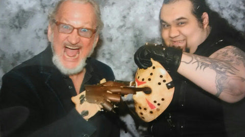 Another shot of our standard mask with Mr. Robert Englund!