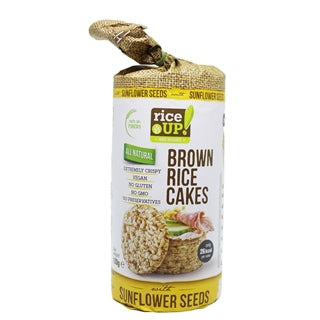 Rice Up All Natural Brown Rice Cakes with Sunflower Seeds 120g