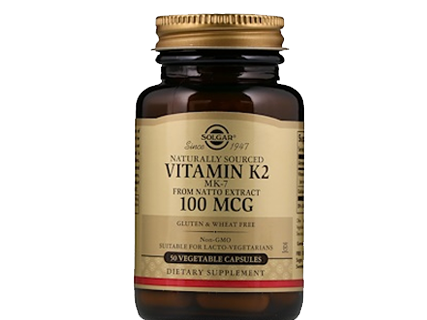 Solgar Naturally Sourced Vitamin K2 MK-7 from Natto Extract 100 MCG