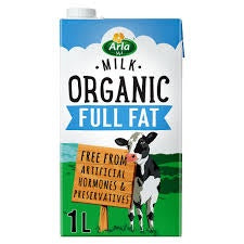 Arla Organic Full Fat Milk 1L