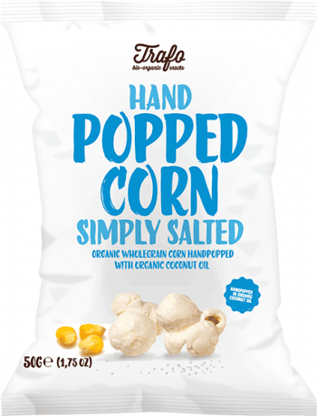 Trafo Organic Hand Popped Corn-Slightly Salted 50g