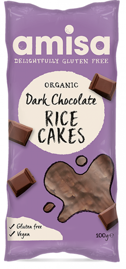 Amisa Organic Dark Chocolate Rice Cakes 100g