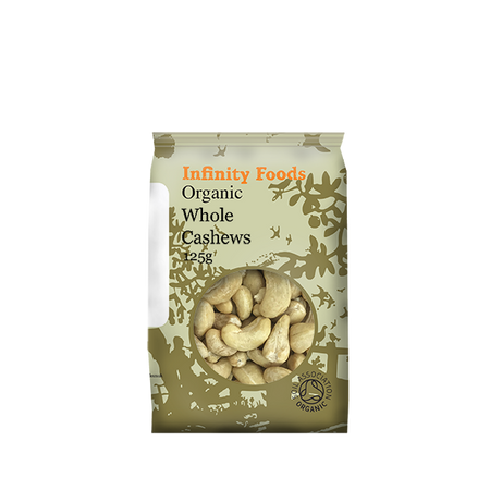 Infinity Foods Organic Whole Cashews 125g