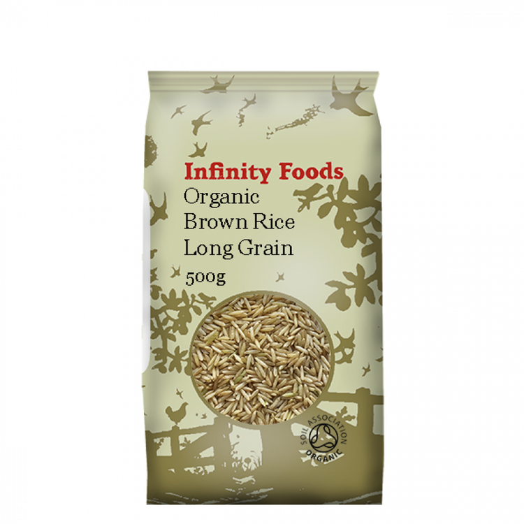 Infinity Foods Organic Brown Rice Long Grain 500g