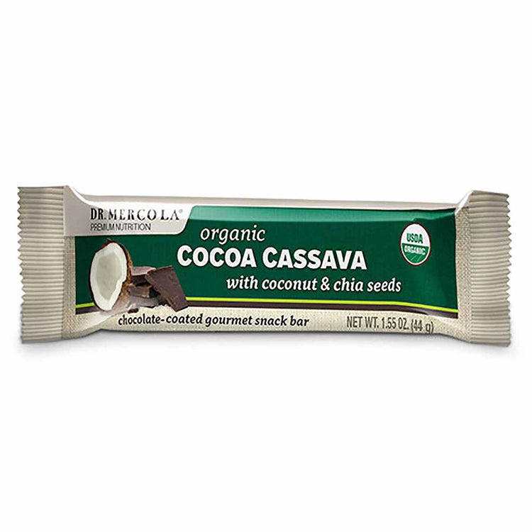 Dr. Mercola Organic Cocoa Cassava with Coconut & Chia Seeds 44g