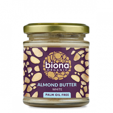 Biona Organic White Almond Butter Unroasted 170g