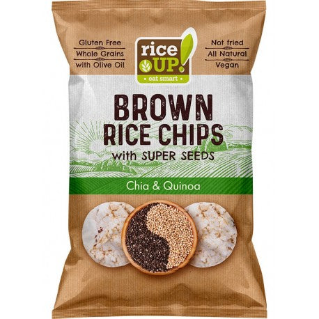 Rice Up  Rice Chips with Super Seeds - Chia & Quinoa 60g