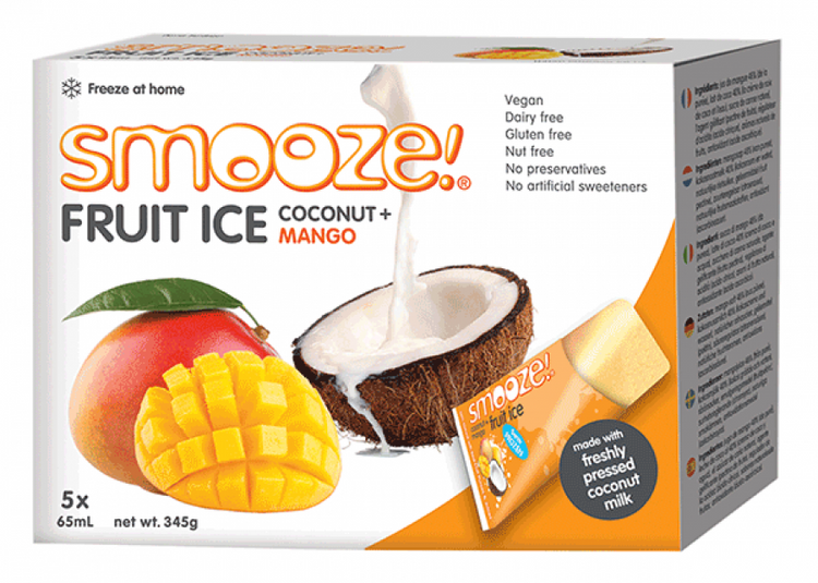 Smooze Fruit Ice Coconut + Mango 345g