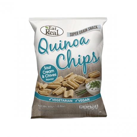 Eat Real Sour Cream & Chives Quinoa Chips 80g