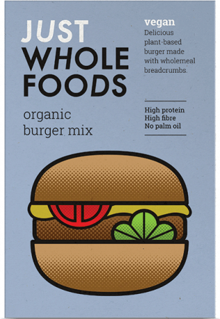 Just Whole Foods Organic Burger Mix 125g