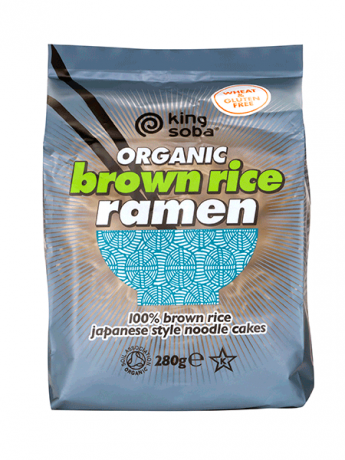 King Soba Organic Brown Rice Ramen Noodles 280g