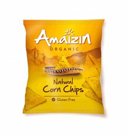 Amaizin Organic Natural Corn Chips 75g