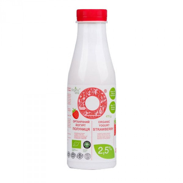 Organic Milk Yogurt with Strawberry 2.5% 470g