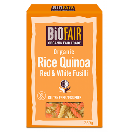 Biofair Organic Rice Quinoa Red & White Fusilli 250g