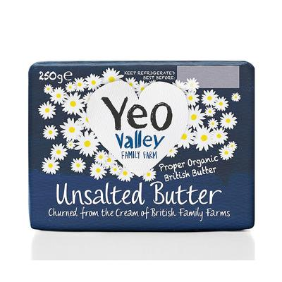 Yeo Valley Organic Unsalted Butter 250g