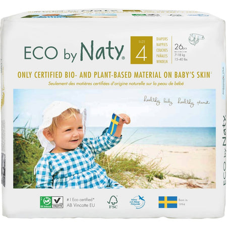 Eco by Naty Size 4 Diapers, 26 pieces