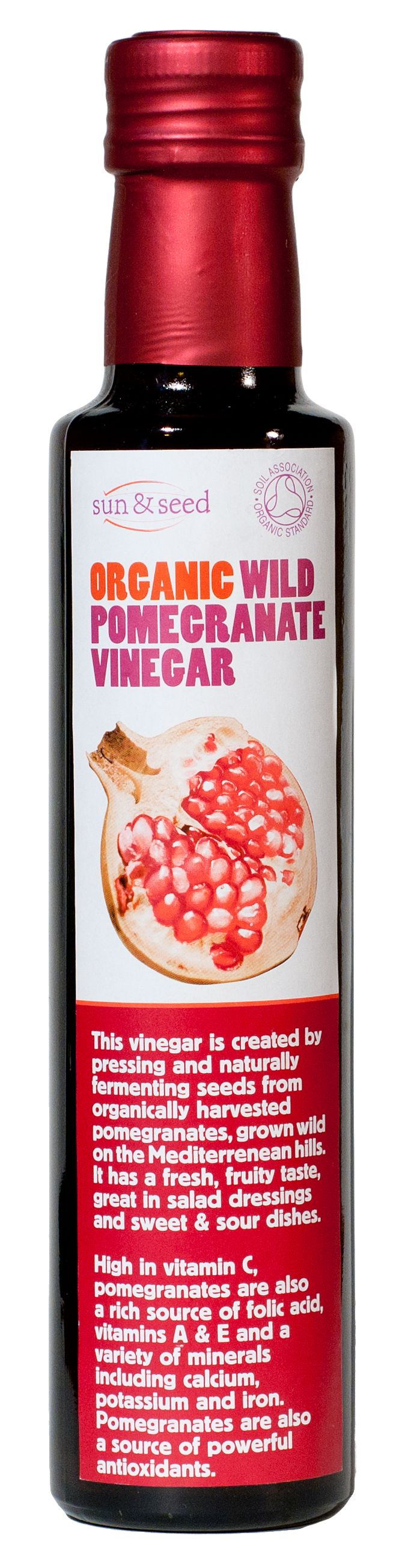 Sun & Seed Organic Wild Pomegranate Vinegar 250ml