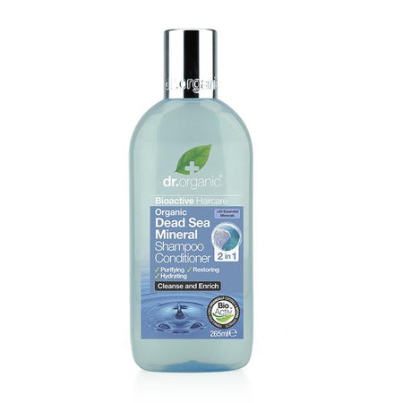 Dr Organic Dead Sea Mineral Shampoo Conditioner (2 in 1) 265ml