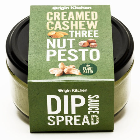 Origin Kitchen Creamed Cashew Three Nut Pesto Spread 155g