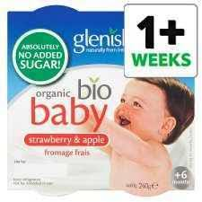 Glenisk Baby Organic Strawberry Apple Fromage Frais 4x60g