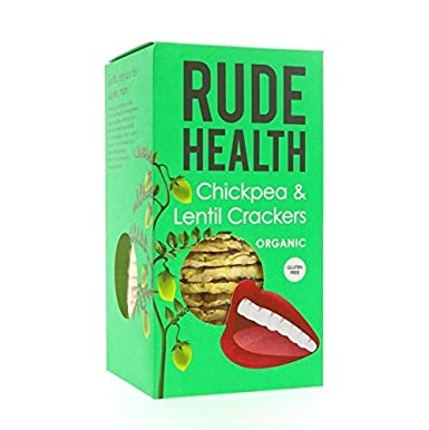 Rude Health Organic Chickpea & Lentil Crackers 120g