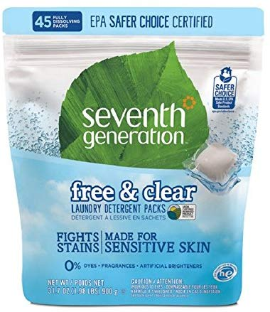 Seventh Generation Free & Clear Laundry Detergent Packs 900g