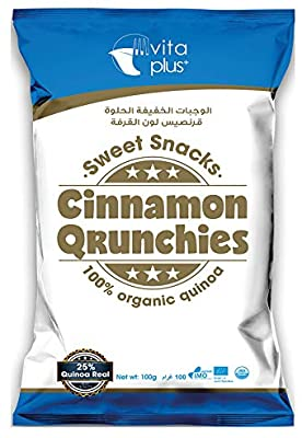 Vita Plus Organic Cinnamon Qrunchies 100g