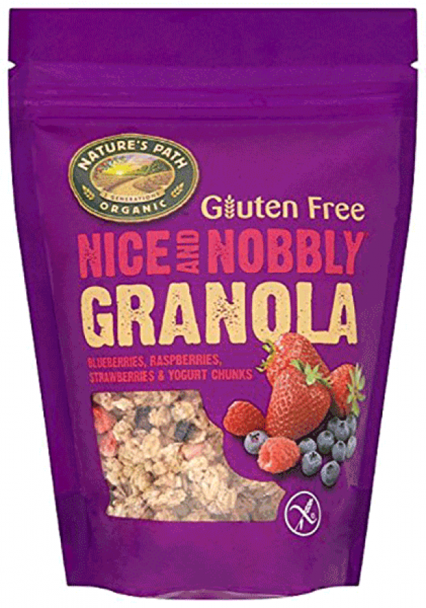 Nature's Path Gluten Free Blueberries, Raspberries, Strawberries & Yogurt Chunks Granola 312g