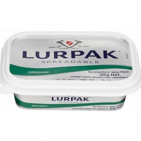 Lurpak Organic Spreadable Butter Slightly Salted 200g