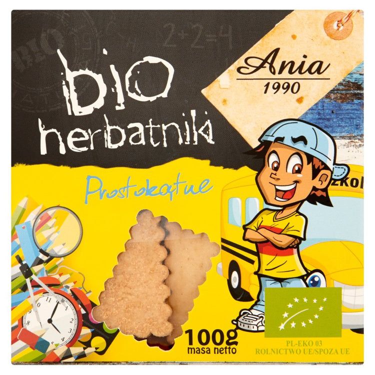 Bio Ania Organic Biscuits Rectangle 100g