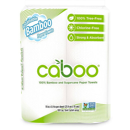 Caboo Twin Pack Kitchen Roll