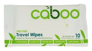 Caboo Travel Wipes 10's