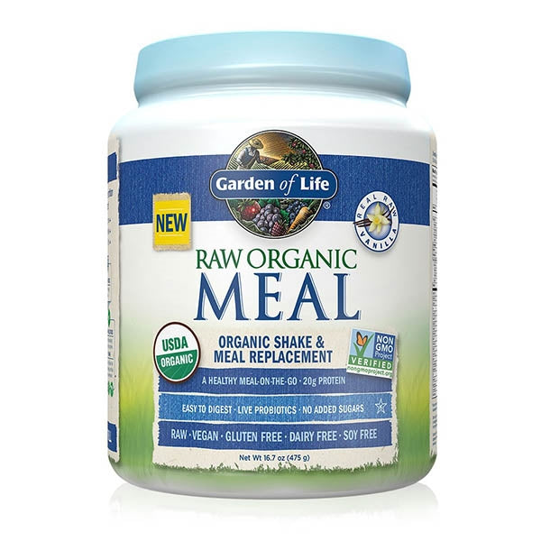 Garden of Life Raw Organic Shake & Meal Replacement Vanilla Flavour 454g