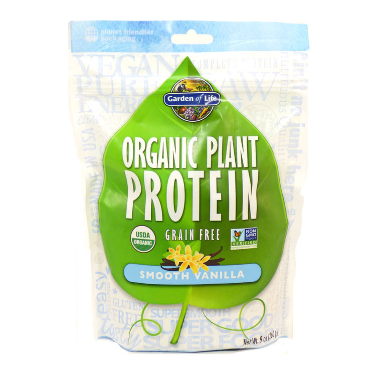 Garden of Life Organic Plant Protein Smooth Vanilla 265g, Grain Free