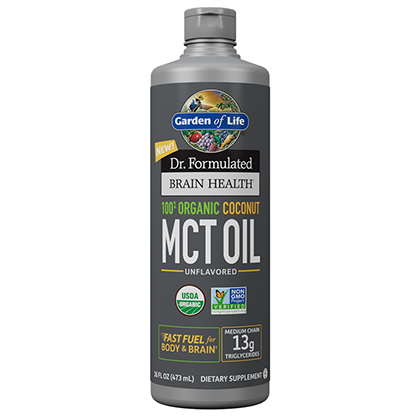Garden of Life 100% Organic Coconut MCT Oil 16oz