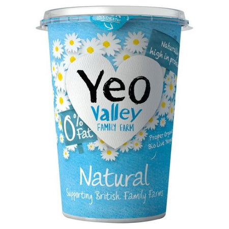 Yeo Valley Organic Natural Fat Free Yogurt 500g