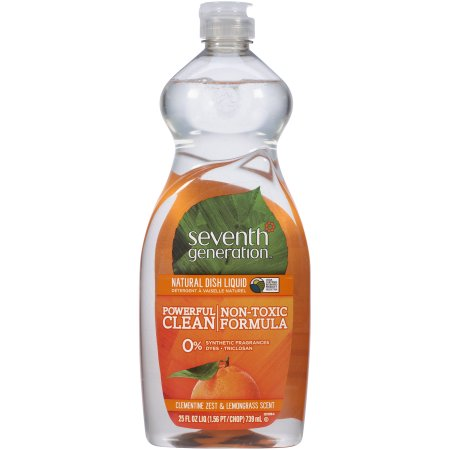 Seventh Generation Dish Washing Liquid  Lemongrass & Clementine Zest 739ml