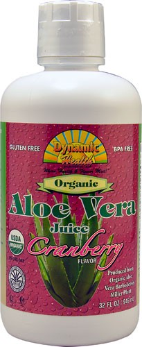 Dynamic Health Organic Aloe Vera Cranberry Juice 946ml