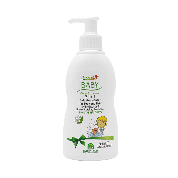 Cucciolo Baby Natural 2 in 1 Delicate Cleanser for Body & Hair 300ml