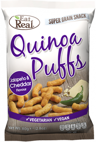 Eat Real Quinoa Puff White Cheddar & Jalapeno 113g
