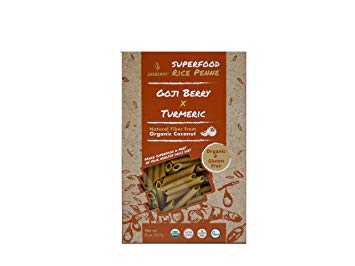 Jasberry Organic Rice Penne with Goji & Turmeric 227g
