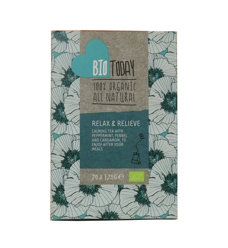 Bio Today Organic Relax & Relieve Tea, 20 bags
