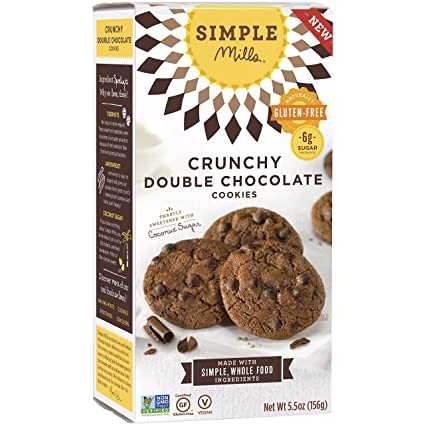 Simple Mills Gluten Free Crunchy Double Chocolate Cookies 156g
