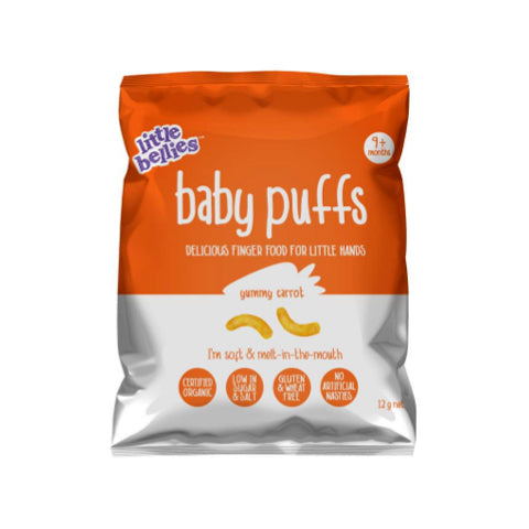 Little Bellies Organic Carrot Baby Puffs 12g