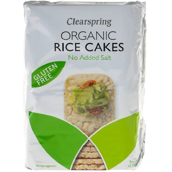 Clearspring Organic Rice Cakes No Added Salt 130g